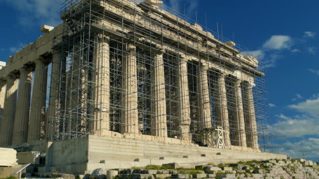 the parthenon under construction - the erechtheion stock videos & royalty-free footage
