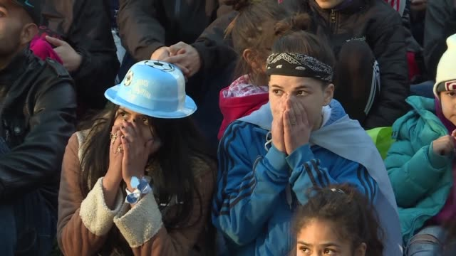 the party at the buenos aires fanzone falls flat as a crowd expecting a messi inspired argentina world cup revival can only watch in horror as the... - revival stock videos & royalty-free footage