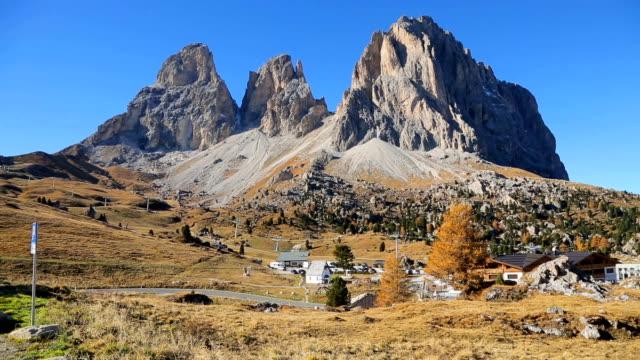 The Passo Gardena, Trentino Alto Adige, Dolomites, Italy