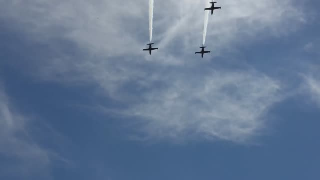 The Patriots Jet Team performed at the 2014 Miramar Air Show aboard Marine Corps Air Station Miramar Calif Oct 3 The renowned civilian aerobatic...