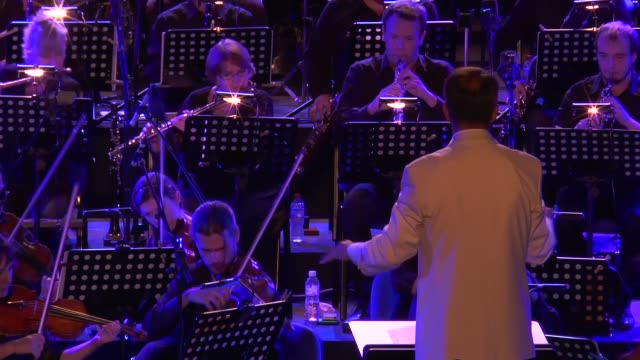 the pau orchestra conducted by faycal karoui perform during 51th international carthage festival at carthage antique theater in carthage tunisia on... - carthage tunisia stock videos & royalty-free footage