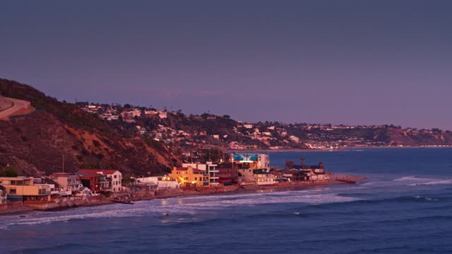 The Pch In Malibu At Sunset Aerial View Stock Footage Video - Getty