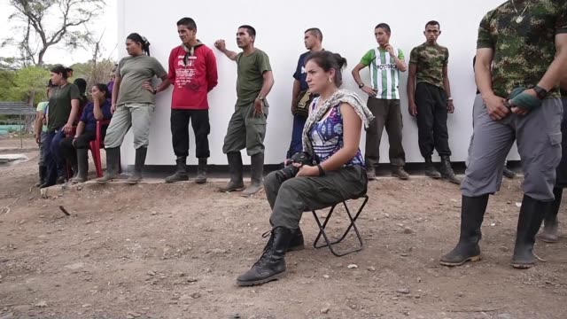 the peace process runs its course in colombia as camps are being built under un supervision to help farc guerrillas return to civilian life and leave... - civilian stock videos & royalty-free footage