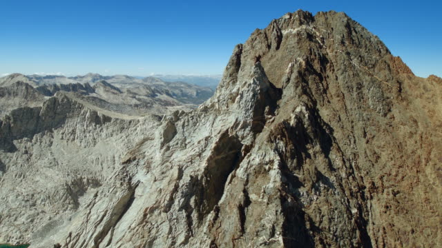 The peak of Red and White Mountain, one of the peaks in the Sierra Crest, Sierra Nevadas, California.