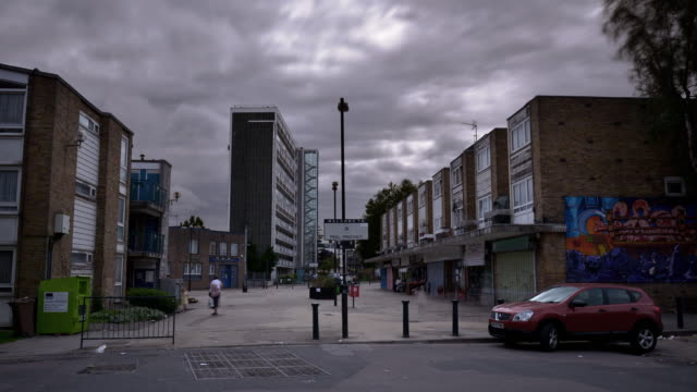 the peel precinct queens park north london - poverty stock videos & royalty-free footage