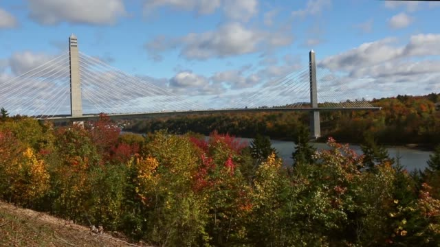 vídeos y material grabado en eventos de stock de the penobscot narrows bridge - puente colgante