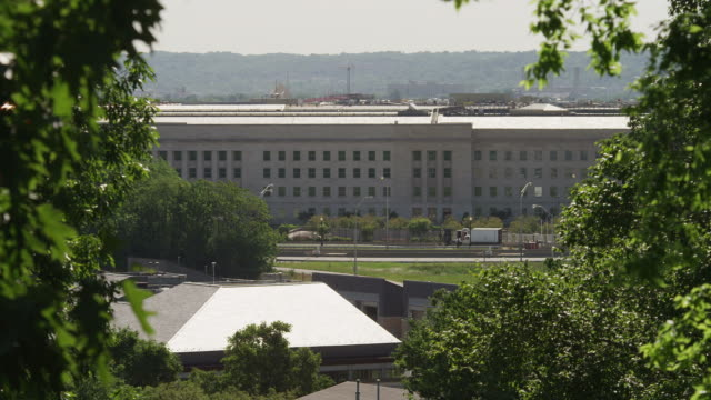 The Pentagon Building seen from Arlington National Cemetery. Shot in May 2012.