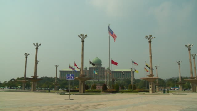 the perdana putra building - putrajaya stock videos & royalty-free footage