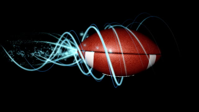 the perfect football spiral v01 with alpha matte - spiral stock videos & royalty-free footage