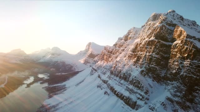 the perfect mountain aerial shot in sunset - mountain range stock videos & royalty-free footage