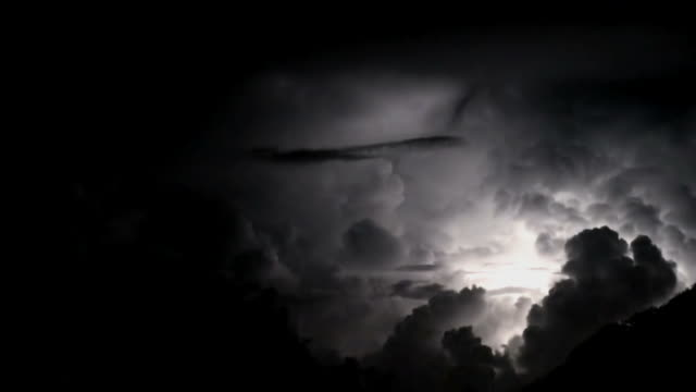 the perfect storm; spectacular thunderbolts and lightnings - spooky stock videos & royalty-free footage