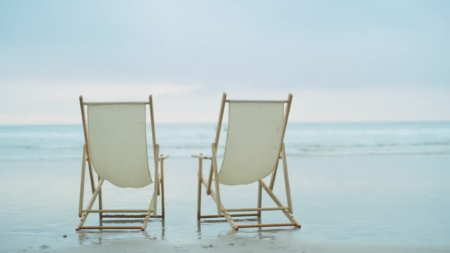 the perfect view - deckchair stock videos & royalty-free footage