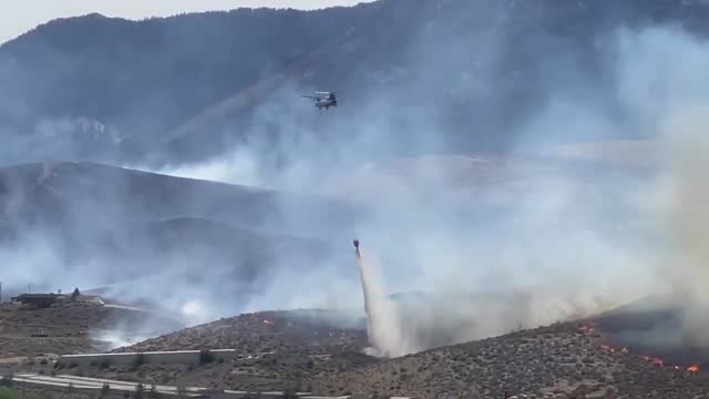 the petrilla fire that started on wednesday afternoon, june 16, as a 2- to 3-acre brush fire grew to 350 acres and forced the closures of roads, and... - nevada stock videos & royalty-free footage