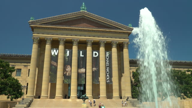 the philadelphia museum of art - western script stock videos & royalty-free footage