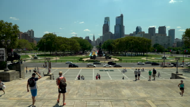 The Philadelphia Skyline and Eakins Oval
