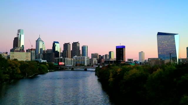 Die Skyline von Philadelphia in Philadelphia, Pennsylvania.