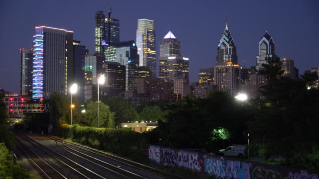The Philadelphia Skyline In The Early Evening