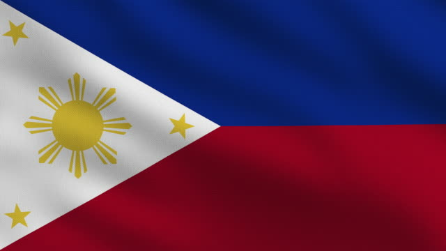 the philippines flag - philippines flag stock videos & royalty-free footage