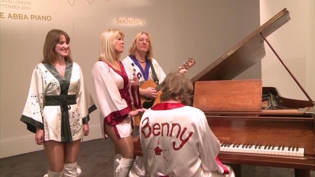 the piano that featured on many of abba greatest hits is going under the hammer next month in london auctioneers sotheby said thursday - thursday stock videos & royalty-free footage