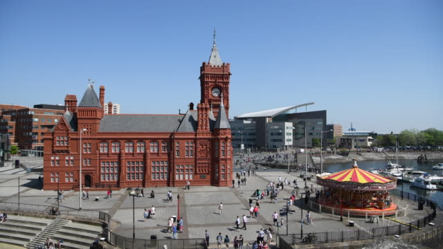 The Pierhead Building in Cardiff Bay Wales UK on a summer day The Pierhead Building is a Grade I listed building built in 1897 and now part of the...