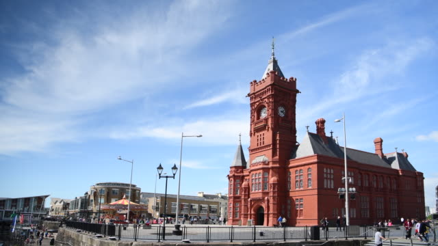The Pierhead Building seen at Cardiff Bay Wales UK on a warm summer day