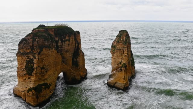 The Pigeons ' Rock/The Rock of Raouché-Beirut, Libanon