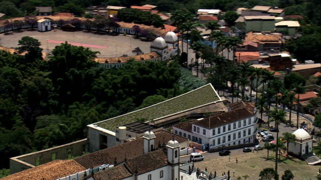 the pilgrimage  - aerial view - minas gerais, congonhas, brazil - religious celebration stock videos & royalty-free footage