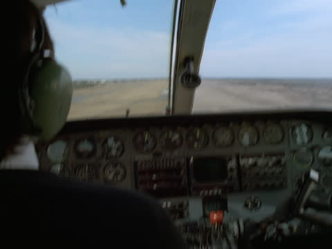 the pilot of a small private or commuter airplane lands the aircraft. - pilot stock videos & royalty-free footage