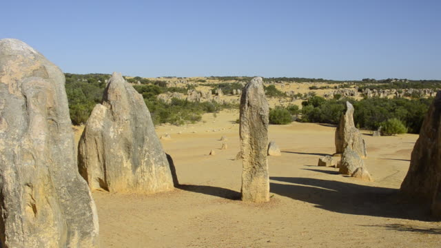 The Pinnacles a famous rock formation in Nambung National Park in Western Australia Australia