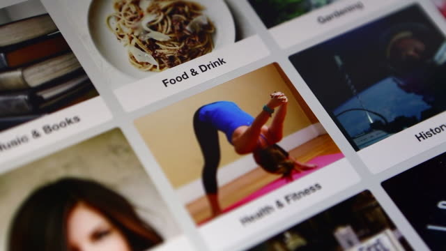 the pinterest inc application is demonstrated on an apple inc ipad air in washington, dc, us, close ups of a females finger scrolling through the... - scrolling stock videos & royalty-free footage