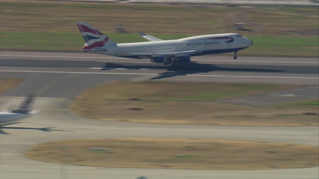 The plane carrying the successful Team GB athletes back from the Rio Olympics landing at Heathrow