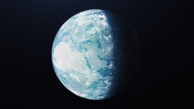 The planet earth taken from the outer space. 4K.