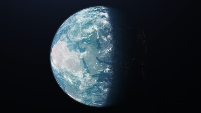 the planet earth taken from the outer space. 4k. - population explosion stock videos & royalty-free footage