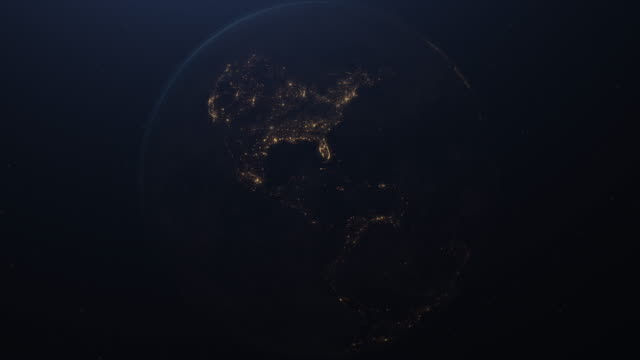 vídeos y material grabado en eventos de stock de the planet earth taken from the outer space. 4k. - continente área geográfica