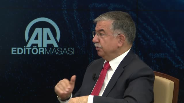the planned early elections on june 24 will be the last one in turkey education minister ismet yilmaz said on april 20 2018 speaking to anadolu... - minister president stock videos and b-roll footage