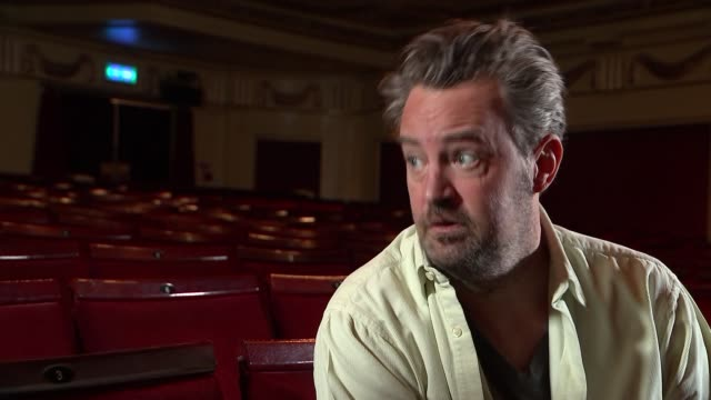 The Playhouse Theatre takes part in Disabled Access Day Matthew Perry interview SOT On Disabled Access Day / meeting guide dogs and owners / on...