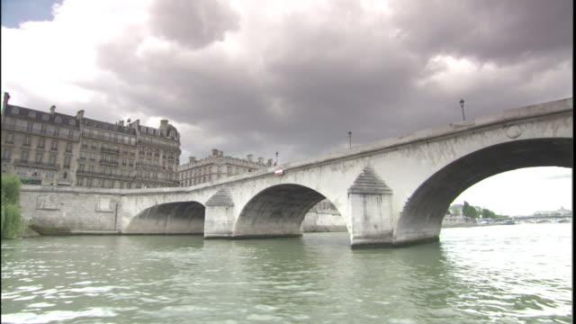 The Pont Nuef spans the River Seine in Paris.