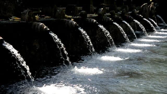 The pool of holy springs at Pura Tirta Empul, Bali Indonesia