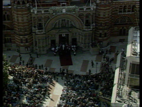 the pope john paul ii collection; tx 28.5.82: pope at westminster cathedral. - westminster cathedral stock videos & royalty-free footage