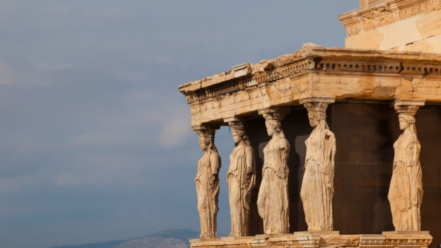 the porch of the caryatids - greece stock videos & royalty-free footage