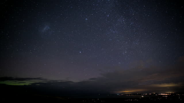 the port hills, canterbury - star trail stock videos & royalty-free footage