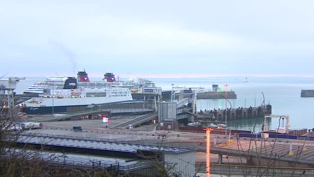 the port of dover at sunrise - passenger ship stock videos & royalty-free footage