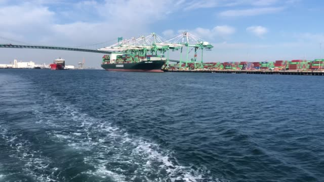 the port of los angeles, which is the nation's busiest container port, is viewed on march 6, 2020 in san pedro, california. the ports of los angeles... - port of los angeles stock videos & royalty-free footage