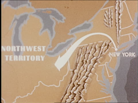 the port of new york and how it was formed - 3 of 8 - cartography stock videos & royalty-free footage