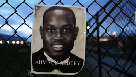 the portrait of the late ahmaud arbery hangs on a waterfront fence on september 13, 2020 in williamsburg, brooklyn, new york city. the new memorial... - memorial video stock e b–roll