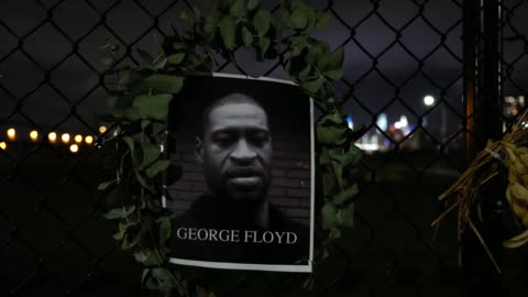 """the portrait of the late hangs on a waterfront fence on september 13 in williamsburg, brooklyn, new york city. the new memorial entitled """"say their... - memorial video stock e b–roll"""