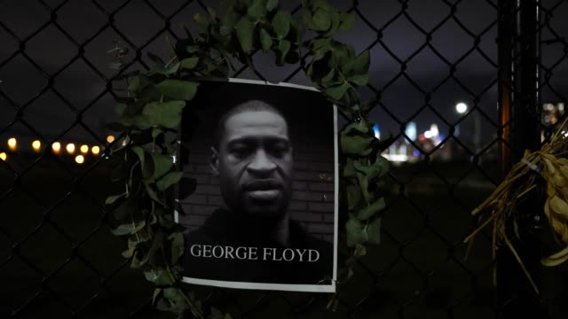 """the portrait of the late hangs on a waterfront fence on september 13 in williamsburg, brooklyn, new york city. the new memorial entitled """"say their... - memorial点の映像素材/bロール"""