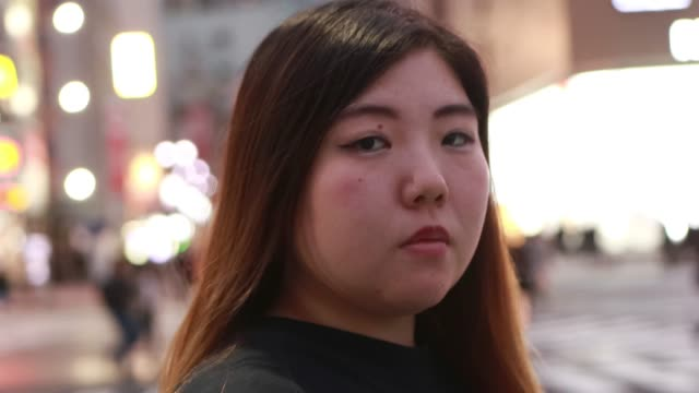 the portrait video of asian body positive woman in asia - plus size model stock videos & royalty-free footage