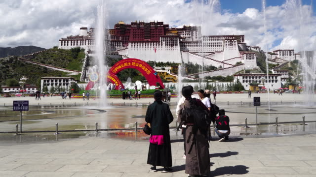 The Potala Palace in Lhasa the largest and most complete ancient palace complex in Tibet is now a museum and listed on UNESCO World Heritage Site