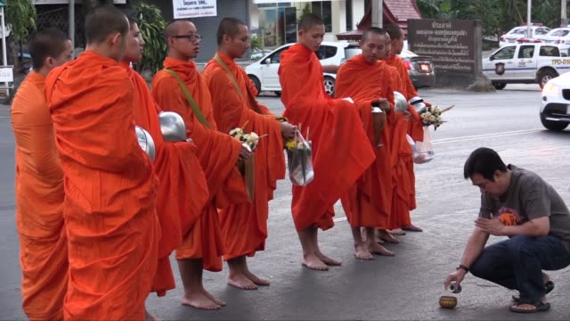 The practice of giving food to monk each day is called Tam Boon and donations are collected at around 0600 Any food received must be eaten by noon as...